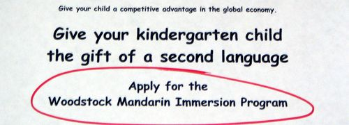 Apply to woodstock Mandarin