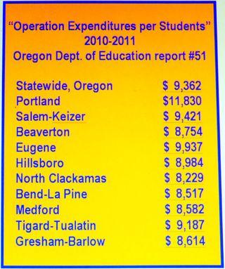 Student cost per year